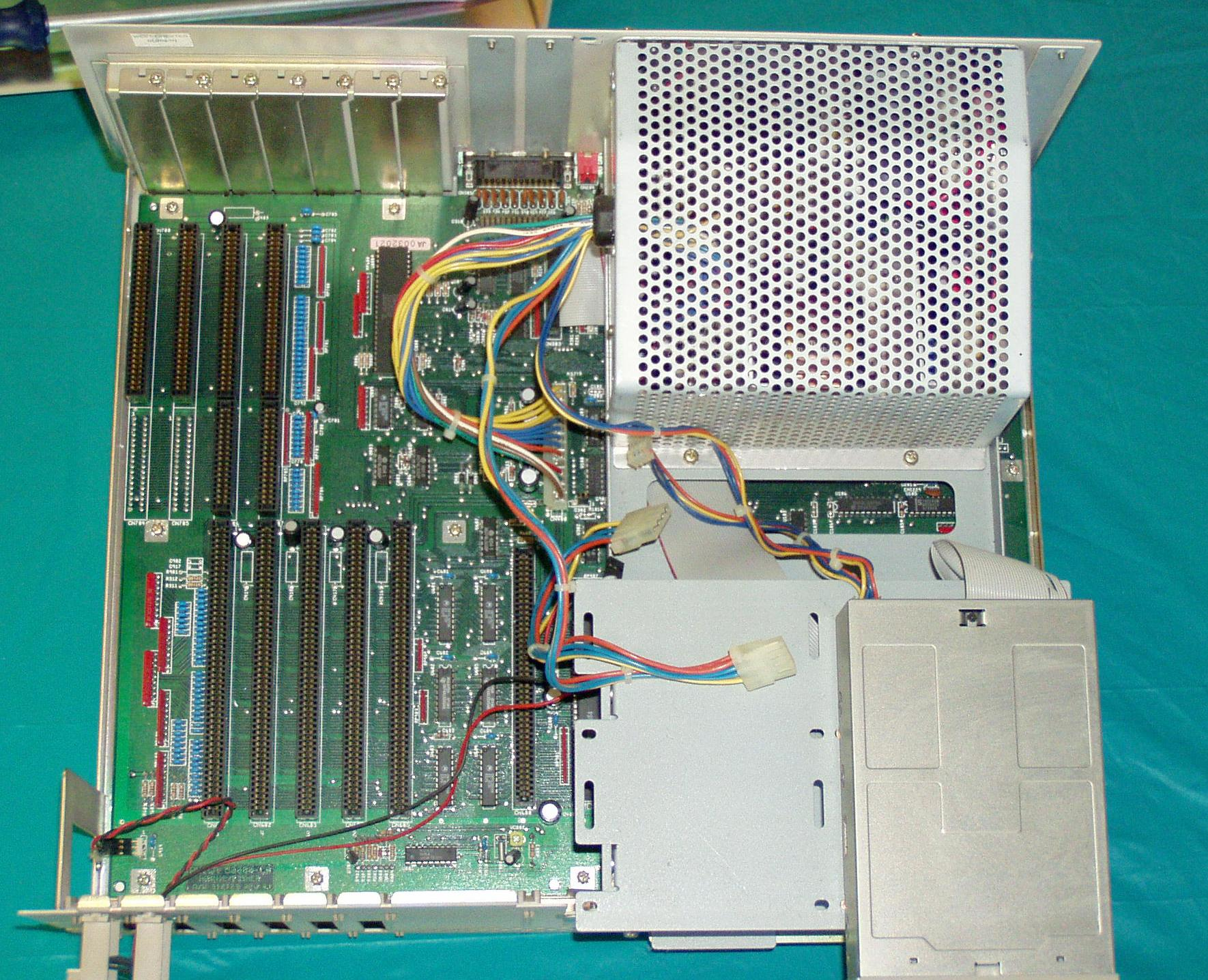 Inside the Amiga 2000.