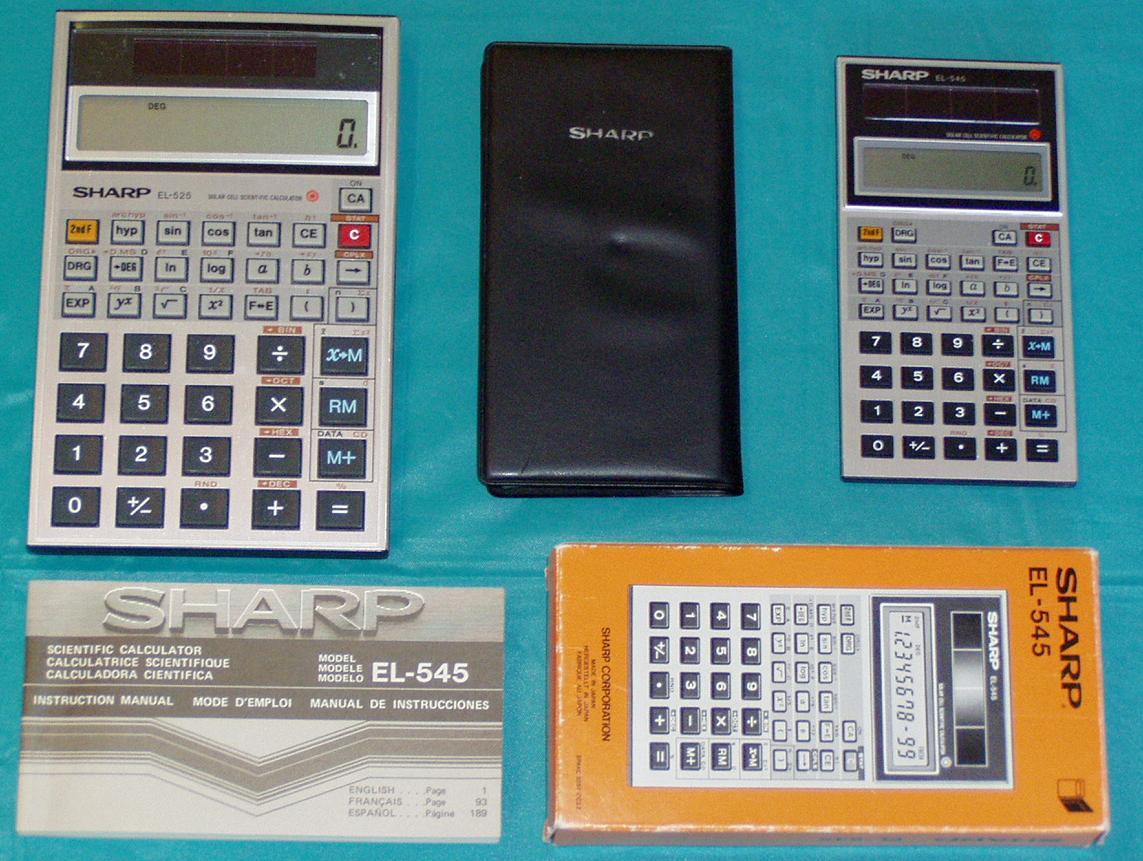 daves old computers calculators and slide rules rh classiccmp org Old Sharp Calculators sharp el 520w calculator instruction manual