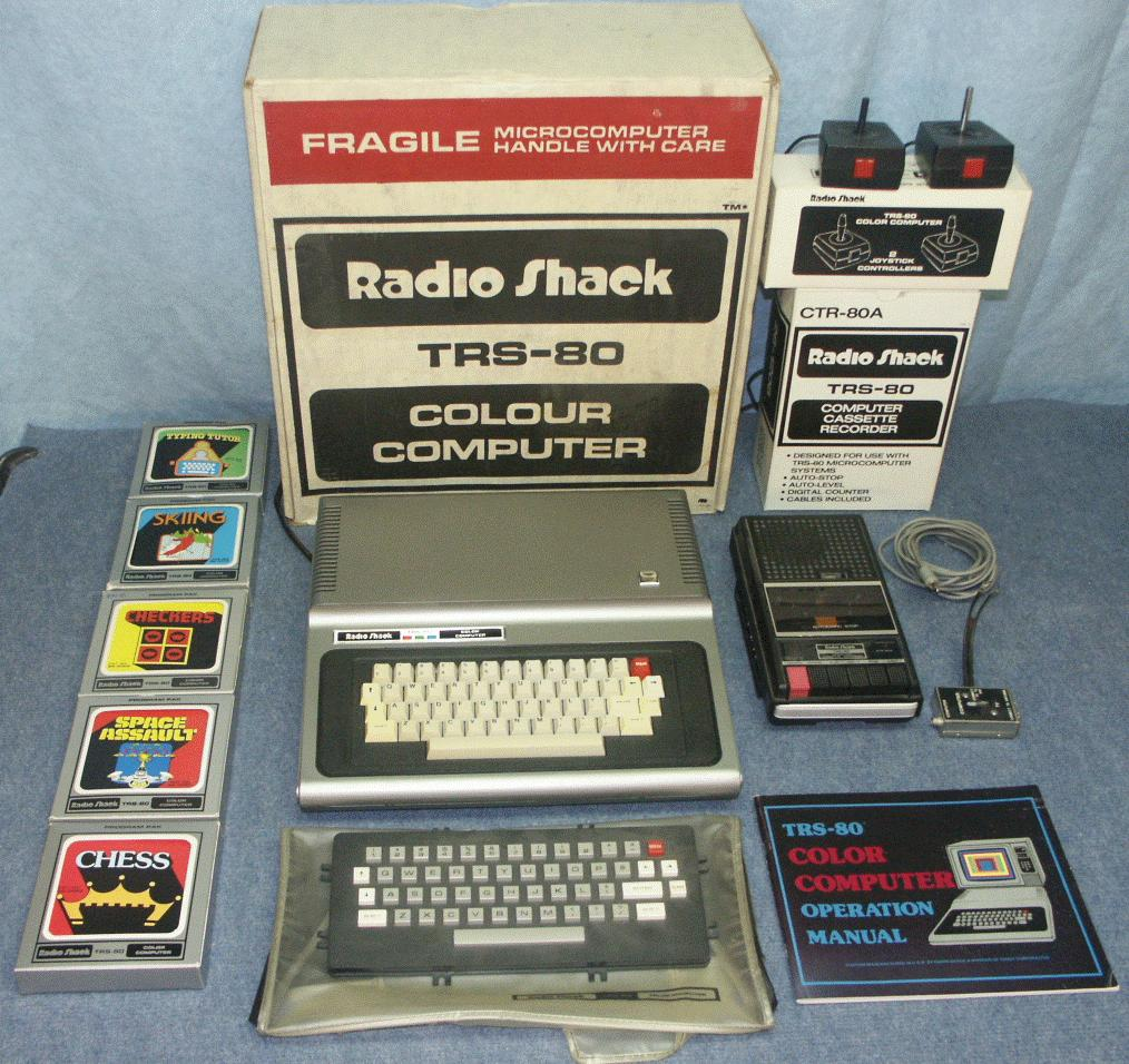 daves old computers radioshack tandy color computer dragon rh classiccmp org Old Radio Shack Speakers Inside Old Radio Shack Store