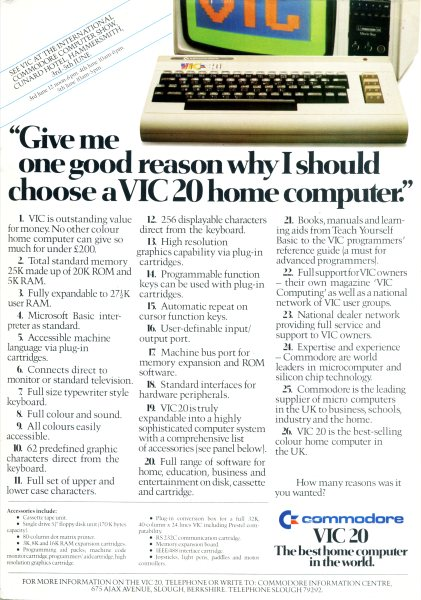 DAVES OLD COMPUTERS - Commodore Vic20
